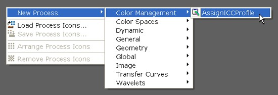 Color Management in PixInsight